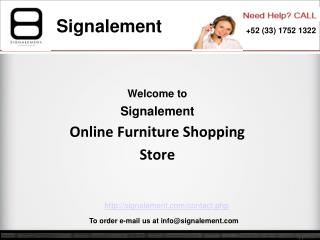 Online Furniture Shopping at Signalement