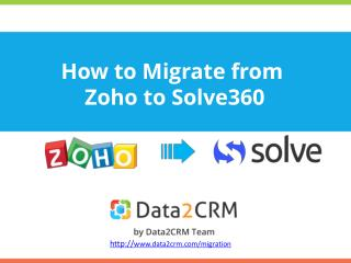 Instructions on Smooth Zoho to Solve360 Migration