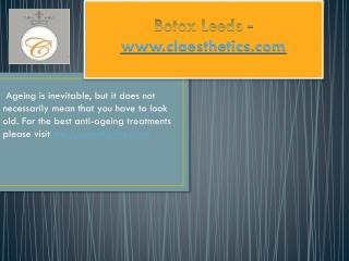 Botox Leed  - www.claesthetics.com