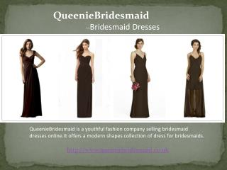 Unique Brown Bridesmaid Dresses
