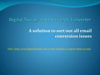 Free Mbox to EML Converter