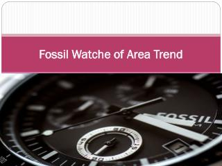 Fossil Watche of Area Trend