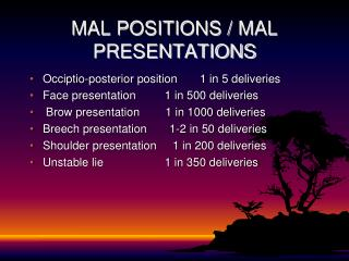 MAL POSITIONS