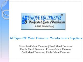 Hand Held Metal Detector Manufacturers Suppliers