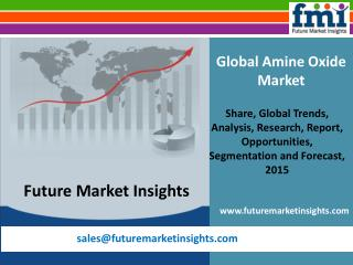 Amine Oxide Market - Global Industry Analysis and Opportunit