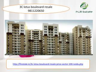 3c lotus boulevard resale 9811220650 price secto 100 noida