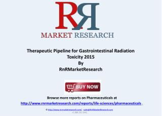 Gastrointestinal Radiation Toxicity Therapeutic Pipeline