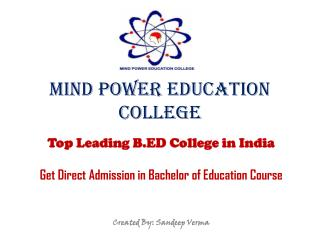 Get Admission in Bachelor of Education Course