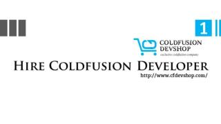 Hire Expert Coldfusion Developer