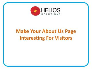 Make Your About Us Page Interesting For Visitors