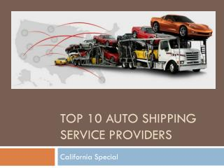 Top 10 Auto Shipping Service Providers in USA