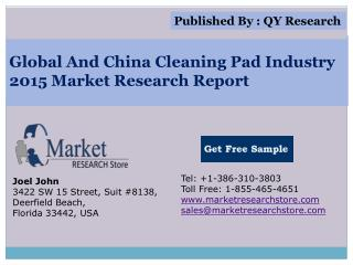 Global And China Cleaning Pad Industry 2015 Market Analysis