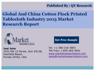 Global And China Cotton Flock Printed Tablecloth Industry 20