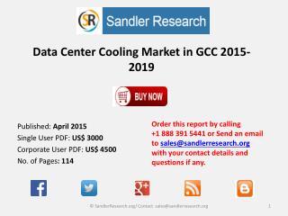 Data Center Cooling Market in GCC 2015-2019
