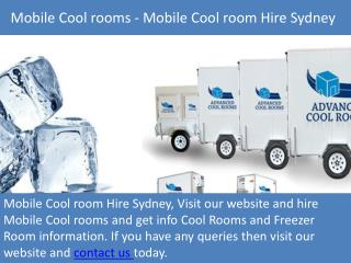 Mobile Coolrooms - Mobile Coolroom Hire Sydney