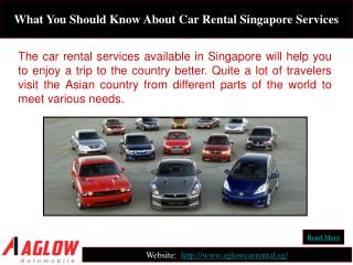 What You Should Know About Car Rental Singapore Services