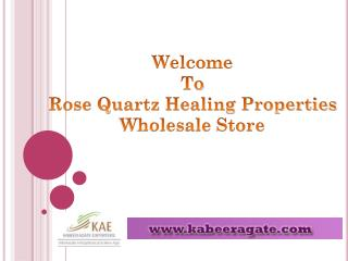 Wholesale Healing Crystal Rose Quartz Suppliers