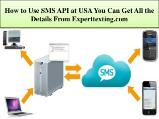 How to Use SMS API at USA You Can Get All the Details From E