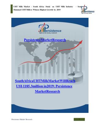 South Africa UHT Milk Market to 2019