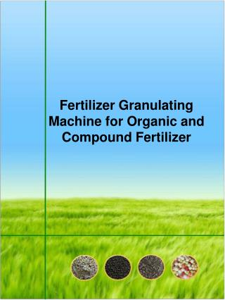 Fertilizer Granulating Machine for Organic Fertilizer