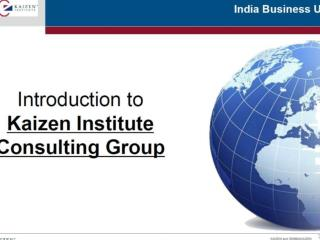 Introduction to Kaizen Institute Consulting Group
