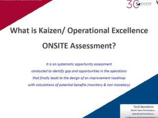 What is Kaizen Assessment?