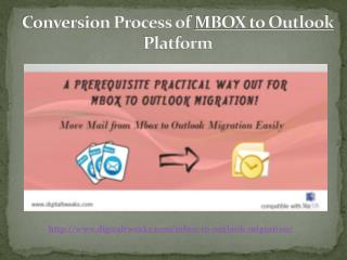 How to convert MBOX to Outlook for Mac/Windows?