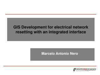 GIS Development for electrical network resetting with an integrated interface