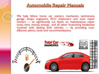 Repair Manuals For Cars