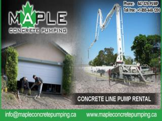 Best Concrete Pumping Rental Services in Toronto