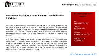 Garage Door Installation Service & Garage Door Installation