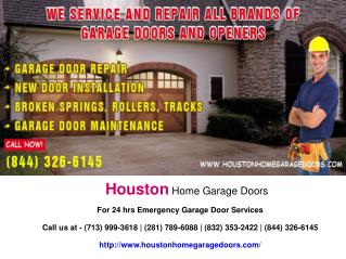 Houston Home Garage Doors Presentation