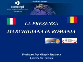 LA PRESENZA  MARCHIGIANA IN ROMANIA