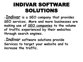 best SEO Services for your online business at Indivar