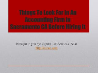 Things To Look For In An Accounting Firm in Sacramento