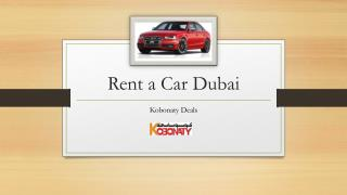 Rent a Car Dubai