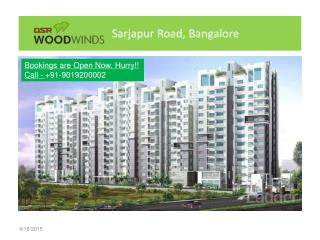 3BHK Apartments in DSR Woodwinds in Sarjapur Road, Bangalore