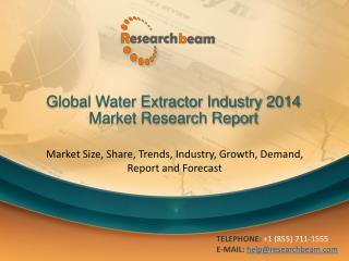 Global Water Extractor Industry 2014