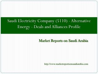 Saudi Electricity Company (5110) - Alternative Energy