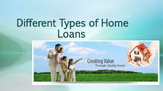 Different Types of Home Loans