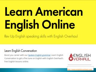 Learn American English Online