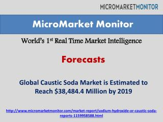 Global Caustic Soda Market Forecast to 2019