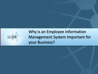 Why is an Employee Information Management System Important