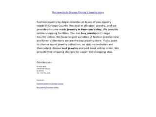 Buy jewelry in orange county