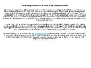 S&A Smash Repairs