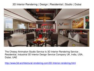 3D Interior Rendering | Design | Residential | Studio | Duba