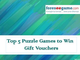 Top 5 Puzzle Games to Win You Fabulous Gift Vouchers