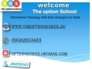 Derivatives Training with best strategies in India
