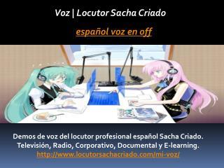 Español voz en off
