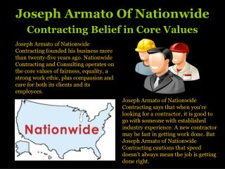 Joseph Armato Nationwide Contracting